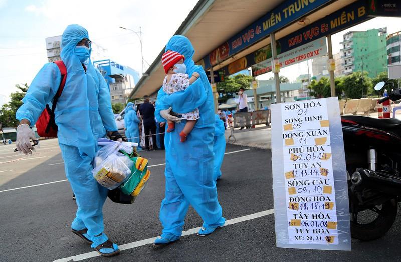 Danh sách 620 người Phú Yên tại TP.HCM đón về quê đợt 20  - ảnh 1