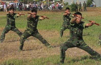 Chùm ảnh biểu diễn võ thuật đầy uy dũng của Bộ đội biên phòng - ảnh 8