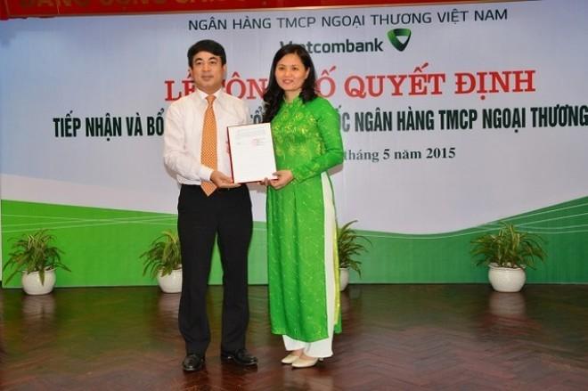 Phó Tổng giám đốc của Agribank sang làm Phó Tổng GĐ Vietcombank - ảnh 1