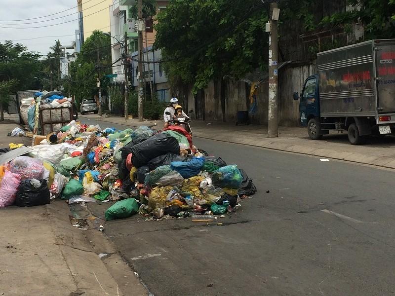 Dân kêu trời vì bãi rác nằm ngay giữa đường - ảnh 2