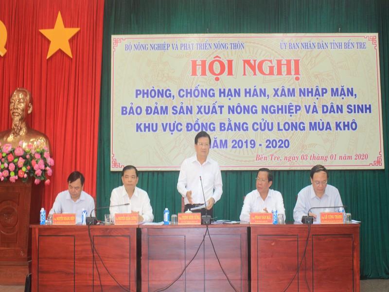 Phó Thủ tướng chỉ đạo chống hạn, mặn tại miền Tây - ảnh 1