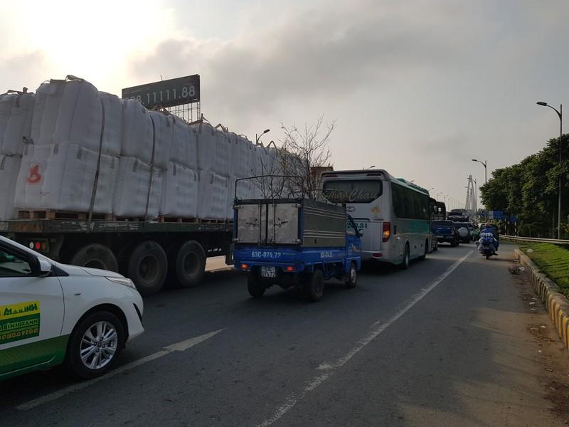 Chính thức cấm xe tải 3 trục trở lên qua cầu Rạch Miễu dịp tết - ảnh 3