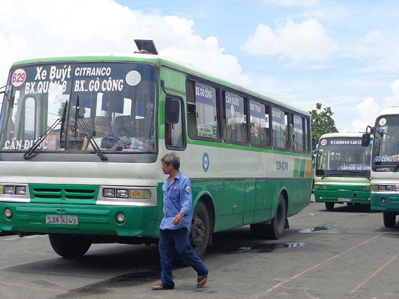 Tiền Giang, Long An tạm dừng vận tải hành khách công cộng - ảnh 1