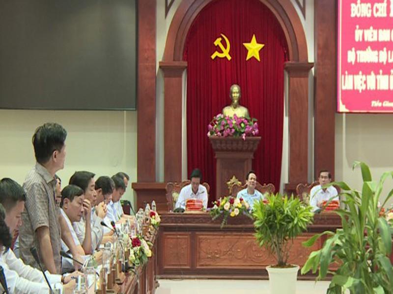 Bộ trưởng Bộ LĐTB-XH làm việc tại tỉnh Tiền Giang - ảnh 1