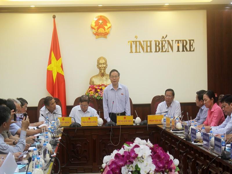 Phó Chủ tịch Quốc hội Phùng Quốc Hiển làm việc tại Bến Tre - ảnh 1