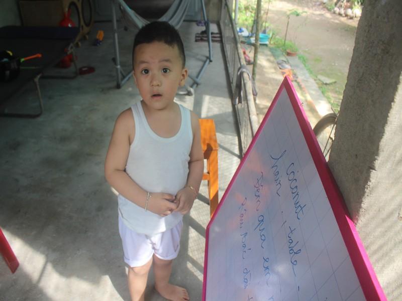 Bé trai 2,5 tuổi đã biết đọc tiếng Việt và tiếng Anh  - ảnh 4