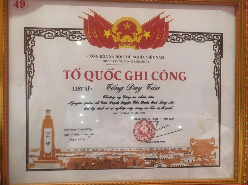 Công nhận liệt sĩ đối với Trung úy công an Tống Duy Tân - ảnh 1