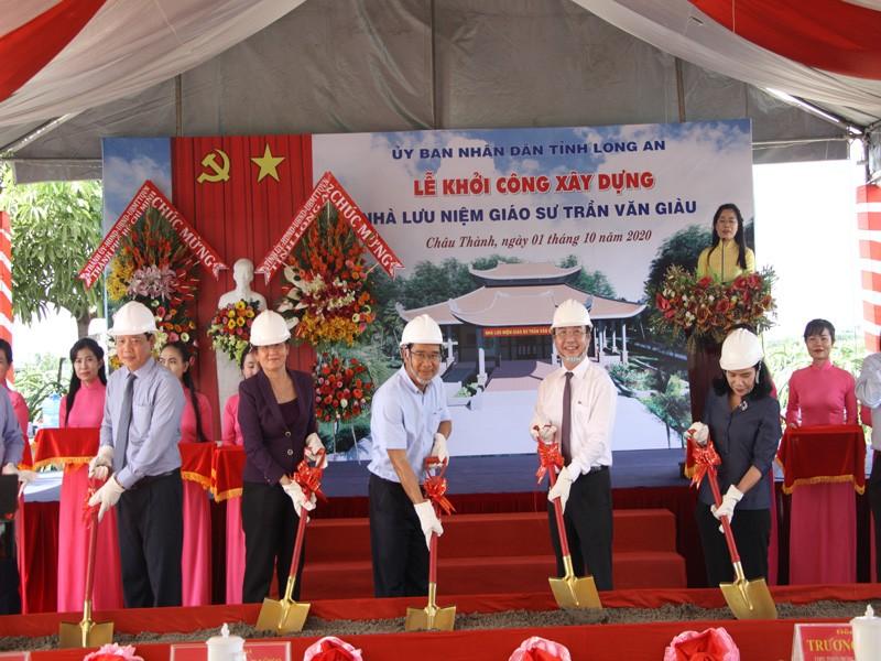 Hơn 8,5 tỉ đồng xây dựng nhà lưu niệm GS Trần Văn Giàu - ảnh 1