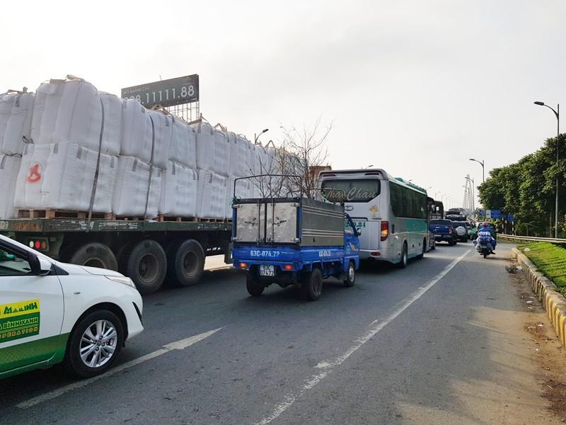 Cấm xe 3 trục qua cầu Rạch Miễu dịp Tết Nguyên đán 2021 - ảnh 2