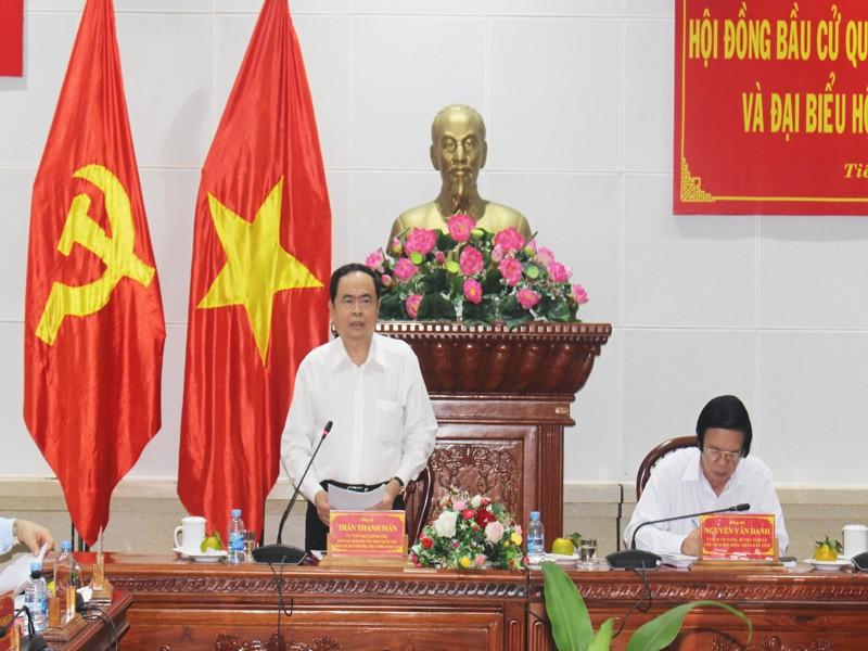 Phó chủ tịch thường trực QH kiểm tra bầu cử tại Tiền Giang - ảnh 1