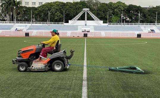 Tiền trạm sân thi đấu của U-22 Việt Nam tại Philippines - ảnh 2