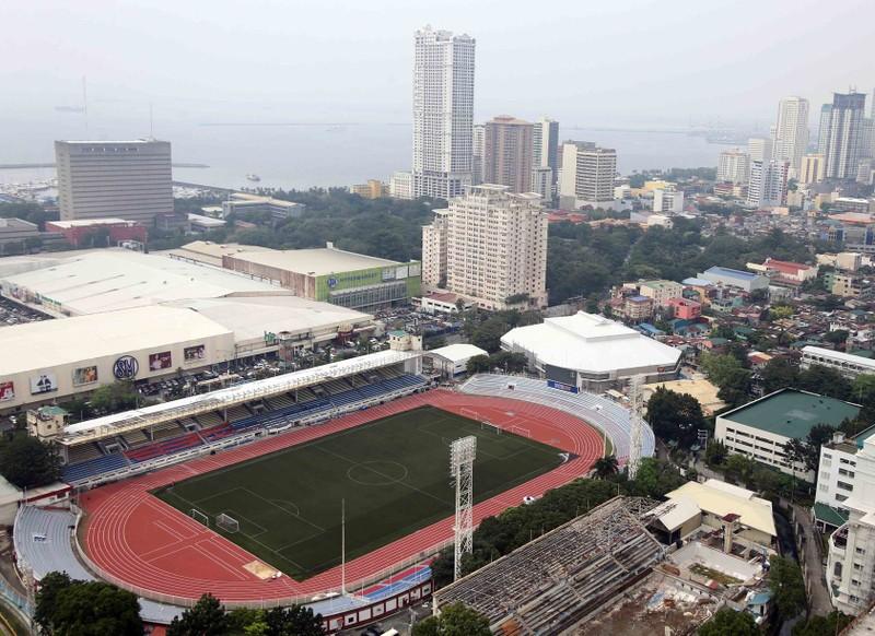 Tiền trạm sân thi đấu của U-22 Việt Nam tại Philippines - ảnh 3