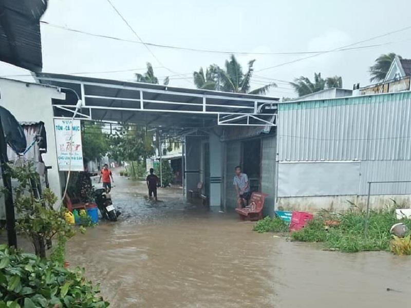 Nước dâng bất thường, lốc xoáy gây thiệt hại nặng cho Cà Mau  - ảnh 1