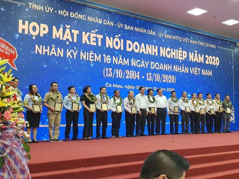 Cà Mau tặng danh hiệu doanh nhân tiêu biểu cho 36 người - ảnh 1