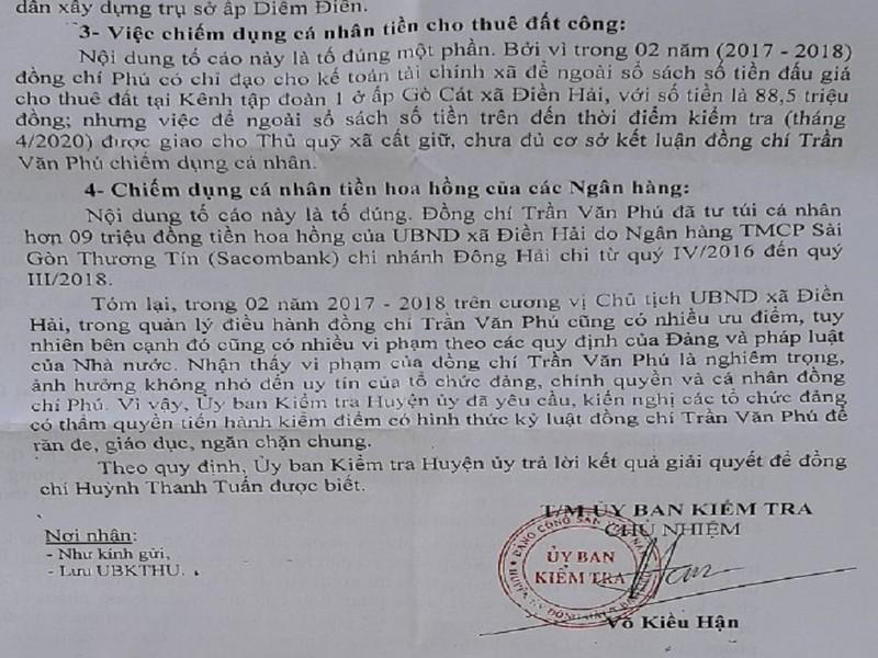 Bạc Liêu: Khởi tố vụ án tham ô tại xã Điền Hải - ảnh 1