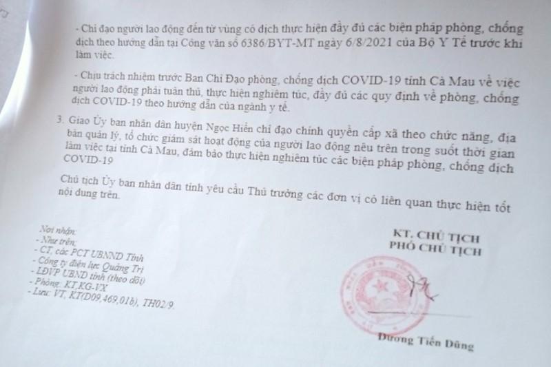 'Thông chốt' bằng văn bản giả lãnh đạo tỉnh Cà Mau đã nghỉ hưu 6 năm  - ảnh 1
